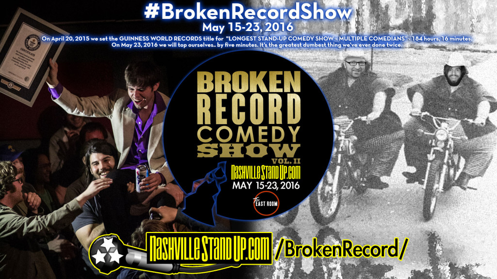 #BrokenRecordShow vol. 2 - May 15-23, 2016 at The East Room.