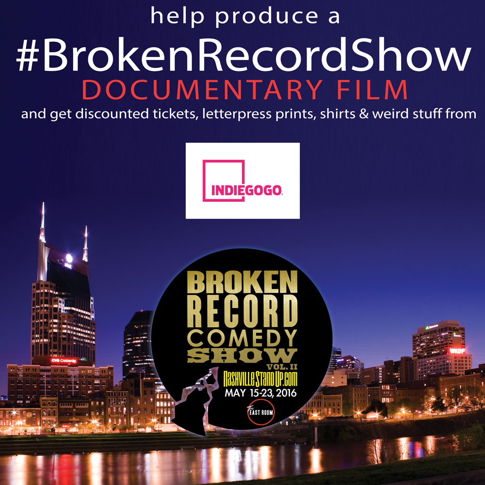 help produce a #BrokenRecordShow documentary film